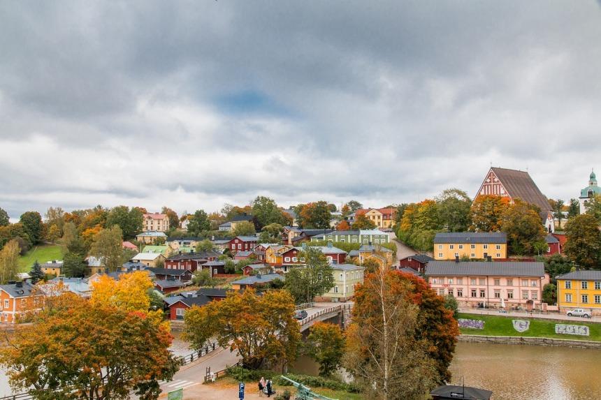 Porvoon vanha kaupunki syksyllä